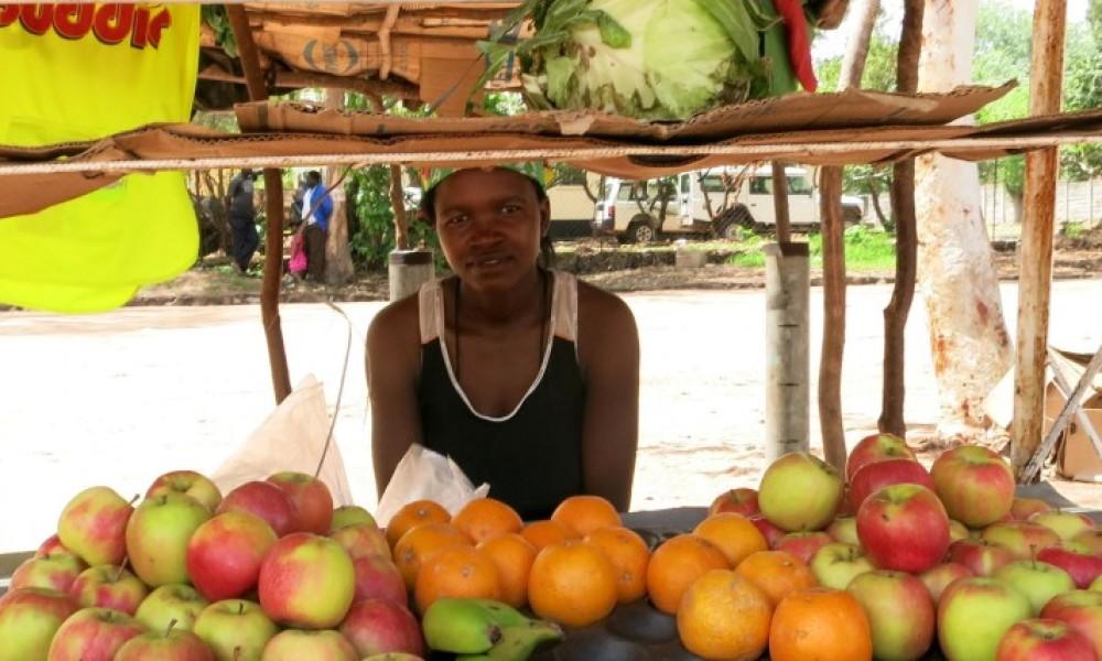 Marktkraam in Zimbabwe Afrika