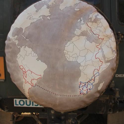 Ibex kaart van onze wereldreis