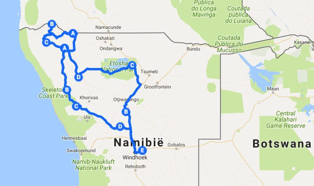 Namibie Ruige Noorden