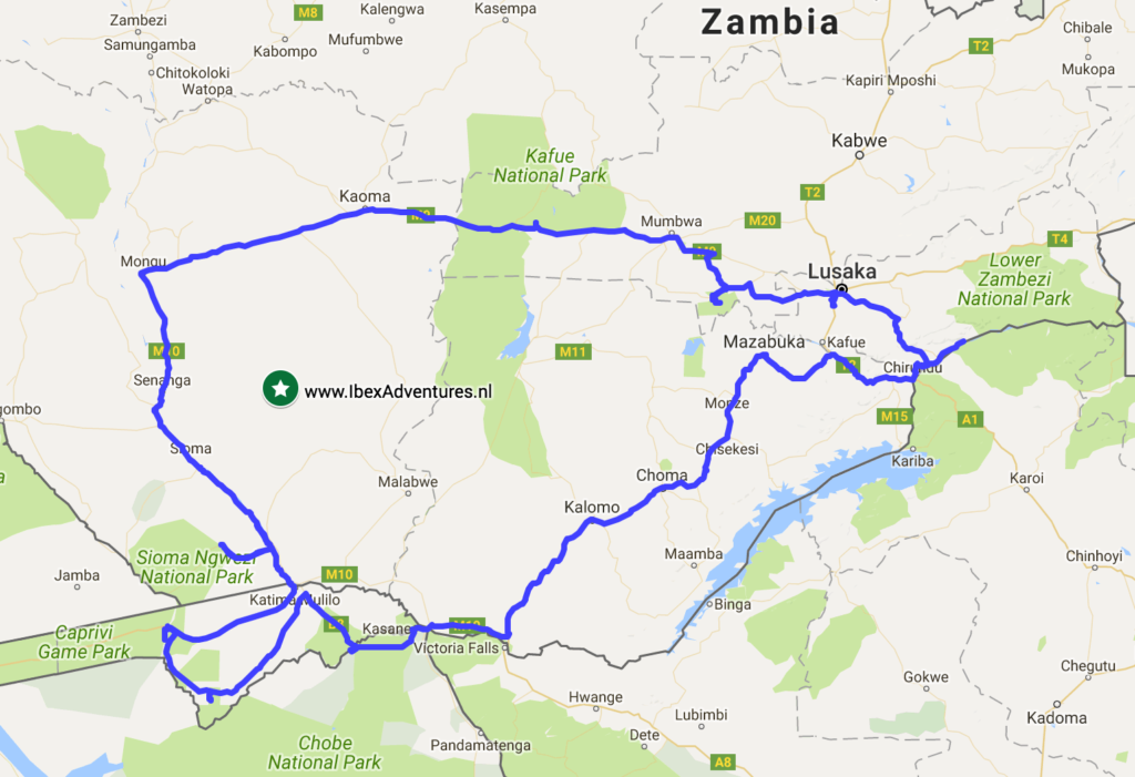 Zambia Route Zuid-West